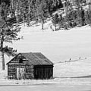 Snow Barn Poster