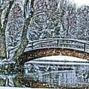 Snow Bridge Poster by Rebecca Adams