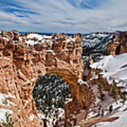 Snow Capped Arch At Bryce Poster