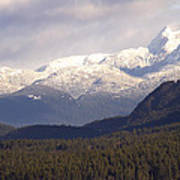 Snow Capped Mountains Poster