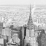 Snow - Chrysler Building And New York City Skyline Poster