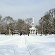 Snow Covered Guilford Poster