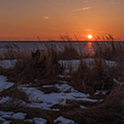 Snow Dune Sunset Seaside Park Nj Poster