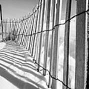 Snow Fence B/w Poster