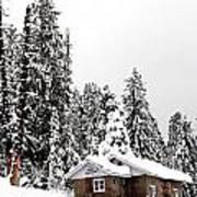 Snow House- Gulmarg- Kashmir- India- Viator's Agonism Poster by Vijinder Singh