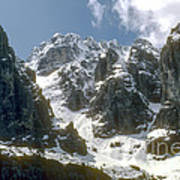 Snow In The Dolomites Poster