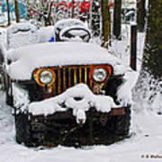 Snow Jeep Poster