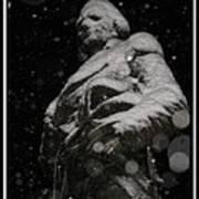 Snow Mask By Darryl Kravitz Poster