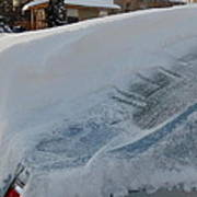 Snow On The Car Poster