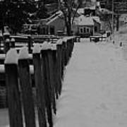 Snow On The Docks Poster