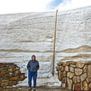 Snow Piles At Alpine Visitor's Center In Rocky Mountain National Park-colorado Poster