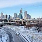 Snow Plowed Public Roads In Charlotte Nc Poster