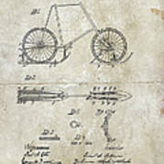 Snow Shoe Attachment For Bicycles Patent 1896 Poster