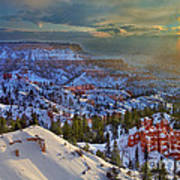 Snowbow During Winter Sunrise Bryce Canyon National Park Utah Poster