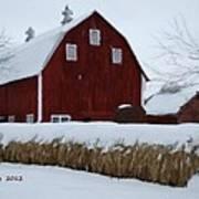 Snowed In Barn Poster