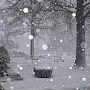 Snowfall On Ayers Poster