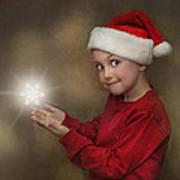 Snowflake Elf Poster by Pat Abbott