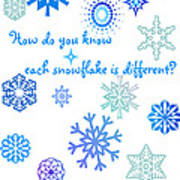 Snowflakes Poster by Methune Hively