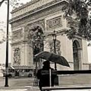Snowing In Paris Poster