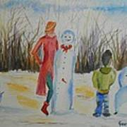 Snowman Competition Poster