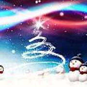 Snowman New Year Poster