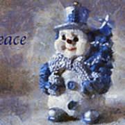 Snowman Peace Photo Art 01 Poster