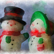 Snowman Photo Art 09 Poster
