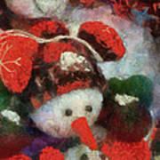 Snowman Photo Art 45 Poster