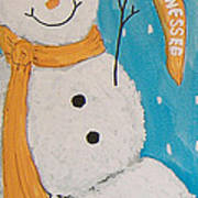 Snowman University Of Tennessee Poster