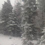 Snowscape Taos Poster