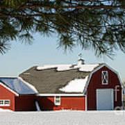Snowy Barn-0087 Poster
