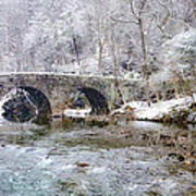 Snowy Bridge Along The Wissahickon Poster