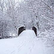 Snowy Day Bridge Poster