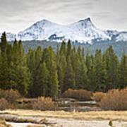 Snowy Fall In Yosemite Poster