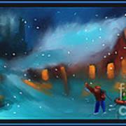 Snowy Fun Poster