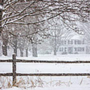 Snowy New England Poster