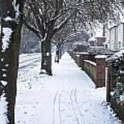Snowy Path Poster by Tom Gowanlock
