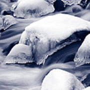 Snowy Rocks Poster