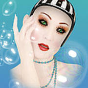 Soap Bubble Woman  Poster