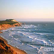 Socal Coastline Sunset Poster