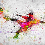 Soccer Player - Flying Kick Poster