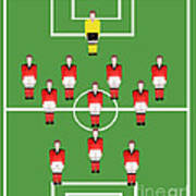 Soccer Team Football Players Poster