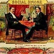 Social Smoke Vintage Cigar Advertisement Poster
