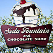 Soda Fountain Poster