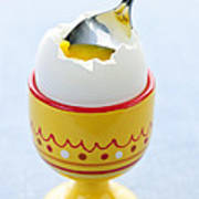 Soft Boiled Egg In Cup Poster by Elena Elisseeva