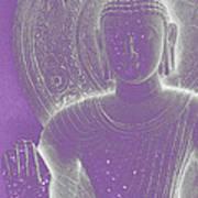 Soft Glow Purple Buddha Poster by Sally Rockefeller