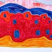 Soft Pueblo Original Painting Poster