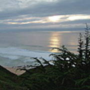 Soft Silvery Pacific Sunset Poster