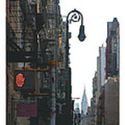 Soho Street Scene Poster