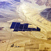 Solar Panels Aerial View Poster